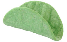 Dreamers Gourmet Mini Taco Shell Green Spinach Mini Taco Shell - 504